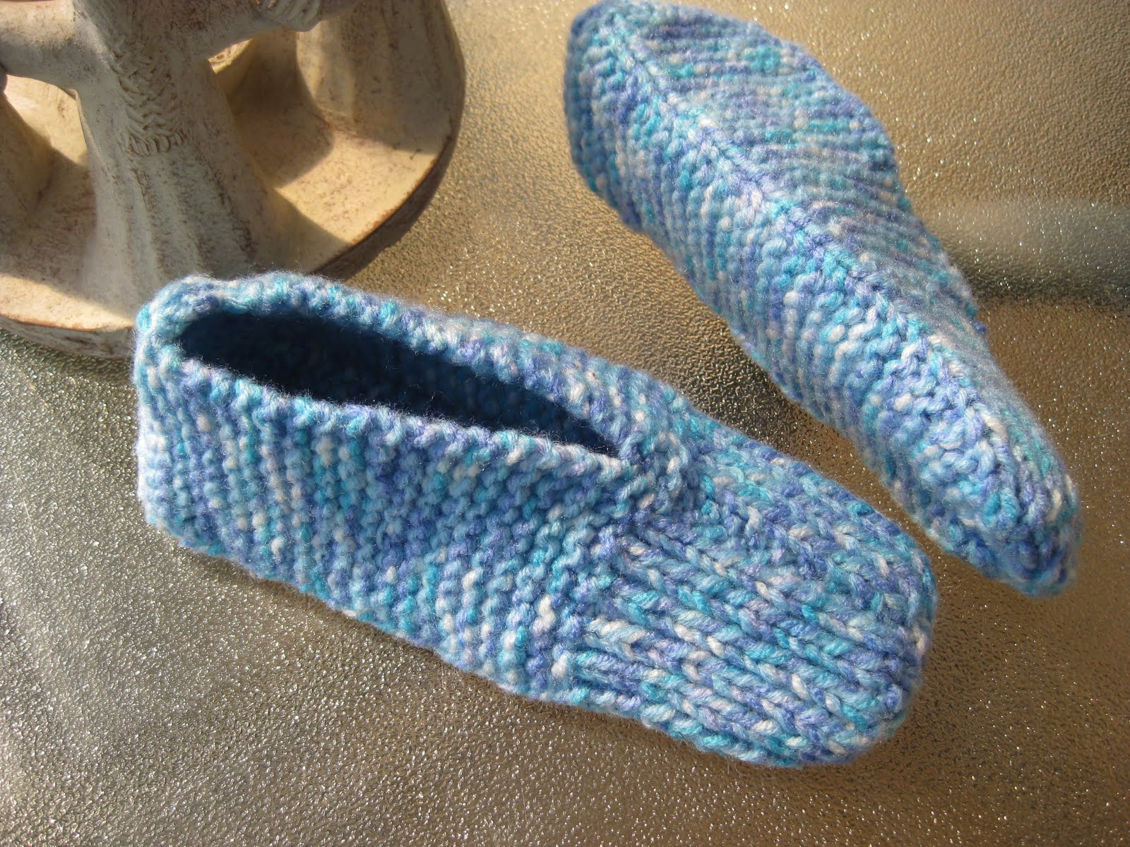 Knitting Patterns For Slippers : Knitted slippers   reposted Cathy @ Still Waters
