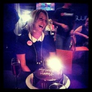 J and the chocolate birthday cake