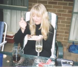 J and the chocolate cake