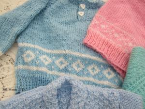 4 More Fair isle colour work