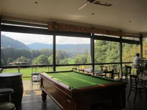 Back deck and hills Toolangi Pub