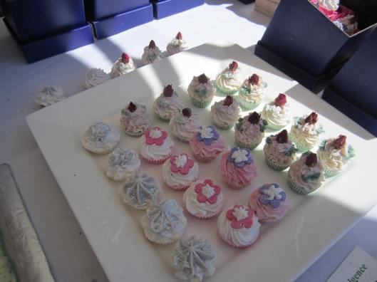 Cup cakes on a plate soaps