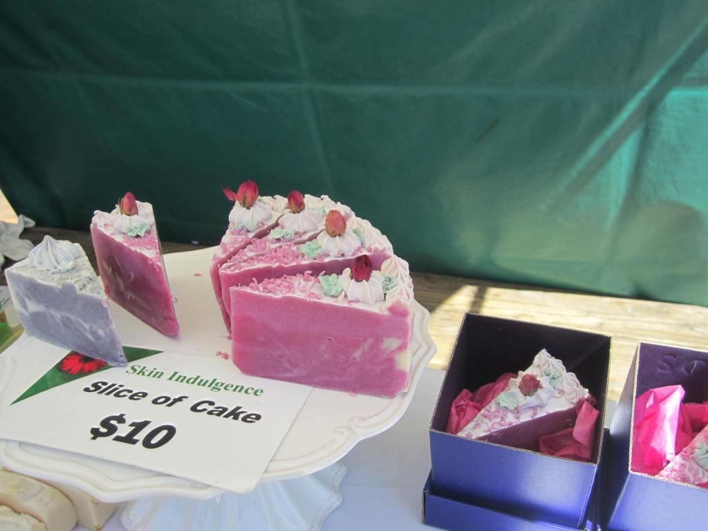 Slice of cake soap