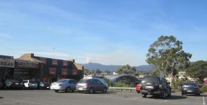 View of hills plus burning off Boronia