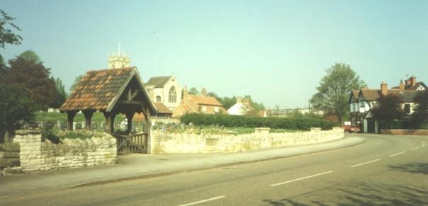 Church graveyard and Pub