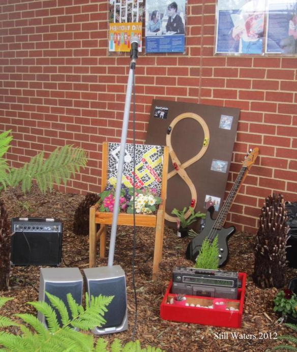 Shannon's planted mosaiced chair for yr 12 music assignment