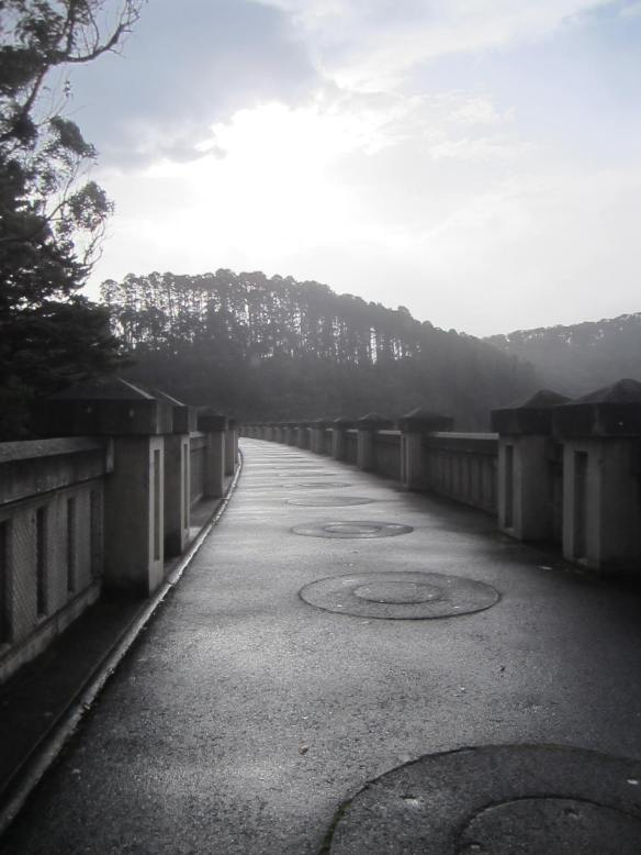 Walk along the top of the dam wall