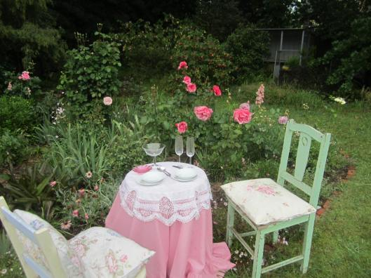 Champagne Tea in the garden!