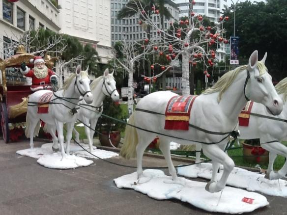 Santa near the Tanglin Mall singapore
