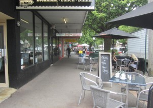 Top end of Main Street Healesville