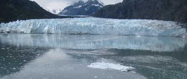 ~ ~ Reflection of glacier at waters edge ~ ~