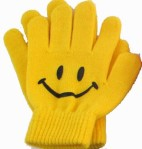 Smiley gloves