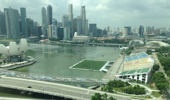 The Float and nearby city Singapore