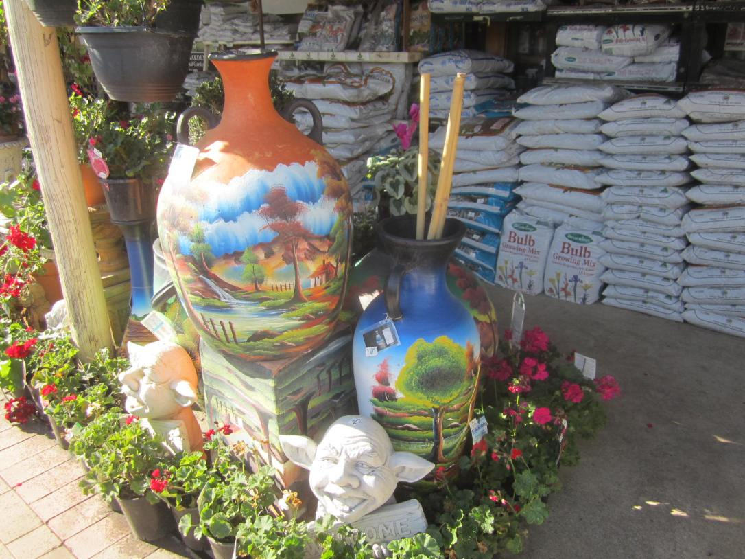 Painted urns