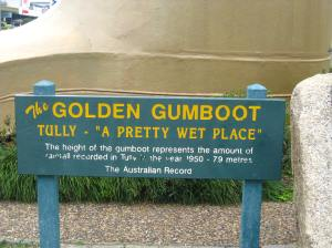 golden gumboot sign