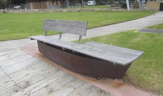 bench with metal hull underneath Frankston