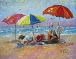 At the beach Vickie Wade