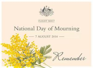 national day of mourning MH17