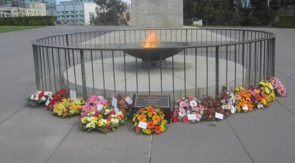 Eternal Flame plaque wreaths