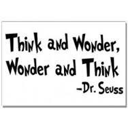 think and wonder