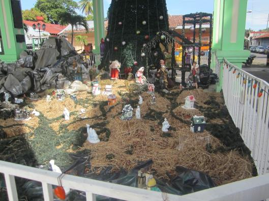 ~ Nativity setting in the front of the old train station.  Corinto Nicaragua Dec 2012 ~