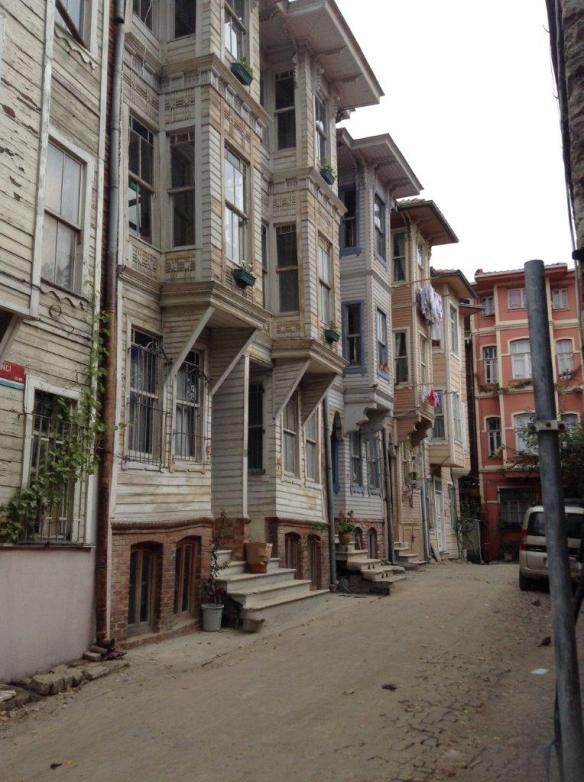 One side of Ayranci Street Istanbul