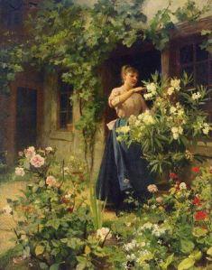 Gardening by Victor Gabriel Gilbert