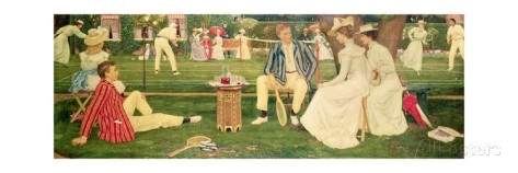 The Tennis Party by Charles March Gere