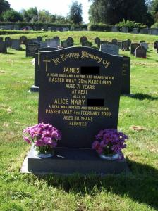 Headstone Mum Dad