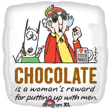 Maxine with chocolate